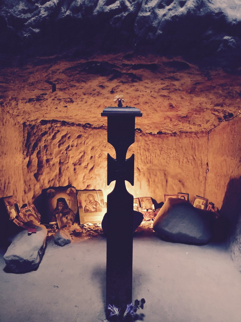 Șinca Veche, modlitebna ve skalách
